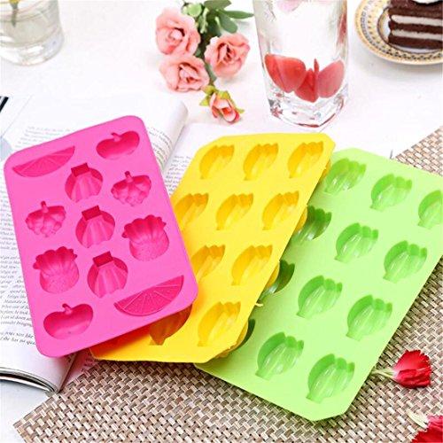 GAOMOJU& Fruit Shaped Silikon Ice Tray Schokoladen-Form (Schokoladenformen Lollipop)