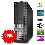 PC Dell optiplex 3010 SFF intel I5-2400 DVD 8gb 500GB HDMI Wifi W7