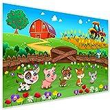 Topposter Poster für Kinderzimmer - Tierbabies auf dem Bauernhof (Poster in Gr. 40x60cm)