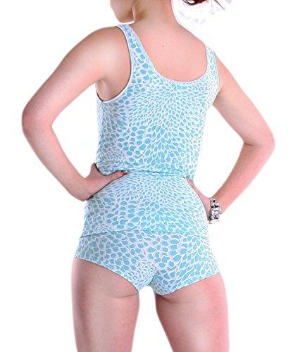 Damen Top, Dessous Unterhemd von Schöller, Viskose mit Elasthan, Farbe Blue/Azur, Größe 36 - 44 Blue/Azur