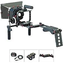 Filmcity Kit de soporte de hombro para Blackmagic Cinema cámara/cámara de producción 4K (FC-05) | jaula BMCC Rig caja mate Follow Focus accesorios