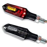 LED Motorrad Rücklicht Bremslicht Blinker Arrow 1 Paar 2 Stück E-Geprüft