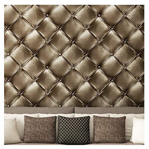 Blooming Wall 3D Kunstleder Hintergrund Textur Muster Tapete Rolle für Wohnzimmer Schlafzimmer, 20,8in32.8FT = 57FT² 20.8 In32.8 Ft=57 Sq.ft 605 -