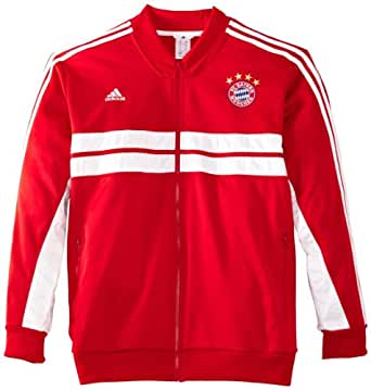 adidas Herren Trainingsjacke FC Bayern München Anthem, Fcb True Red/White, S, G83270