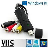 Tech stor3–USB 2.0Audio/Video Grabber | Neue Version/Neue Software (Kompatibel mit Windows 8und Windows 10) | Adapter Video VHS