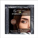 Henna para cejas - Henna Brows - 5 colores - Suficiente para 12 aplicaciones (Marrón medio)
