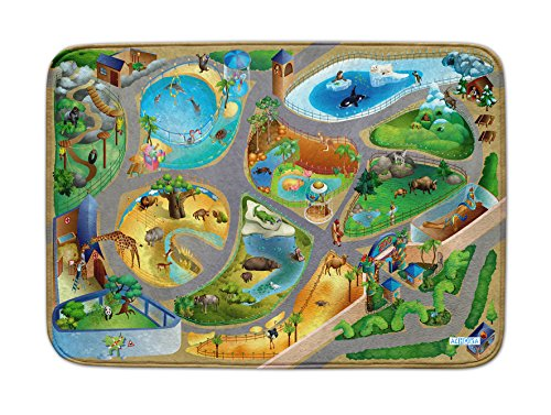 House Of Kids 86027-E3 - Playmat Ultra Soft Zoo Connect, 130 x 180 cm (Playmat Kids)