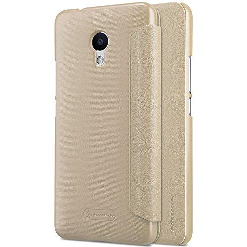 Kepuch Sparkle Meizu M5S Custodia - Alta Qualità PU Pelle Custodia Shield Custodia Case Smart Cover Per Meizu M5S - Oro