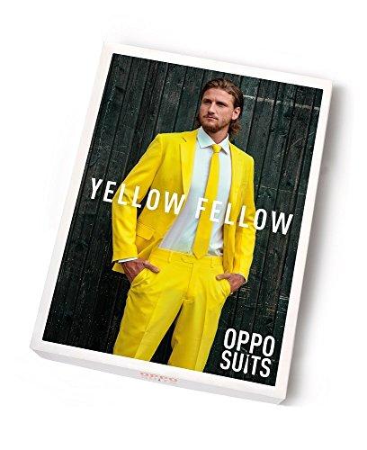 OppoSuits Designer Party Anzug Yellow Fellow für Herren Gr. (Anzug Gelben Herren Opposuits)