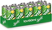 Sprite Regular Carbonated Soft Drink, Can -150ML (Pack of 10)