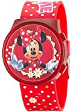 DISNEY MINNIE MOUSE KIDS FLIP TOP LCD DIGITAL RED PLASTIC STRAP CHILDRENS WATCH