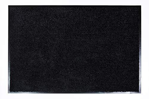 Proper Tex Uni Schmutzfangmatte / Türmatte / Fußabstreifer / robust / langlebig / für den Innenbereich  - schwarz - 60 x 90 cm