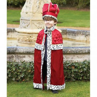 Kostüm Celebrity Ideen - King with Crown - 6-8yrs