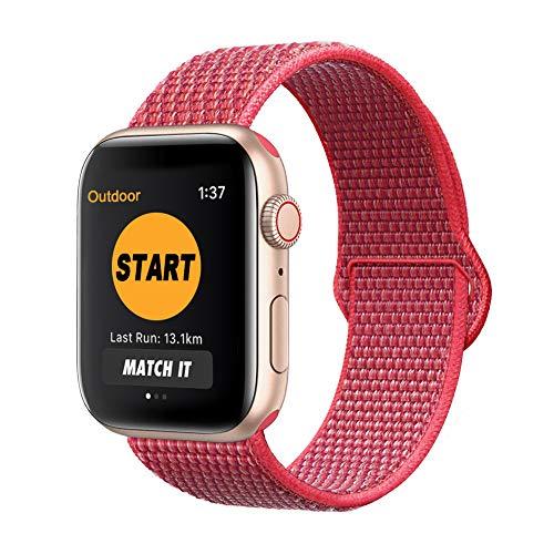 SYOSIN für Apple Watch Armband 38mm 40mm 42mm 44mm,Gewobenes Nylon Sport Schlaufe Handgelenk Uhrband Ersatz Armreif Uhrenarmband für iWatch Apple Watch Series 4, Series 3, Series 2, Series 1
