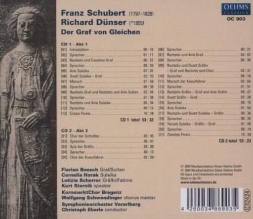 Franz Schubert / Richard Dünser: Der Graf von Gleichen