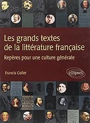 Les grands textes de la littérature française