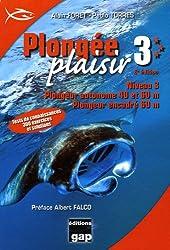 Plongée plaisir Niveau 3 : Plongeur autonome 40 et 60 m, plongeur encadré 60 m
