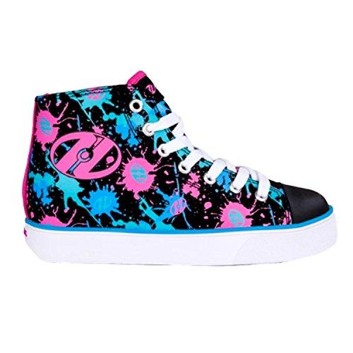 Heelys VELOZ Schuh 2017 black/pink/blue splatter 35
