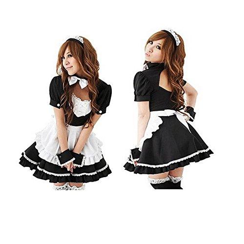 Kostüm Puppe Frauen - Nette Frauen Anime Cosplay Französisch Maid Schürze Kostüm