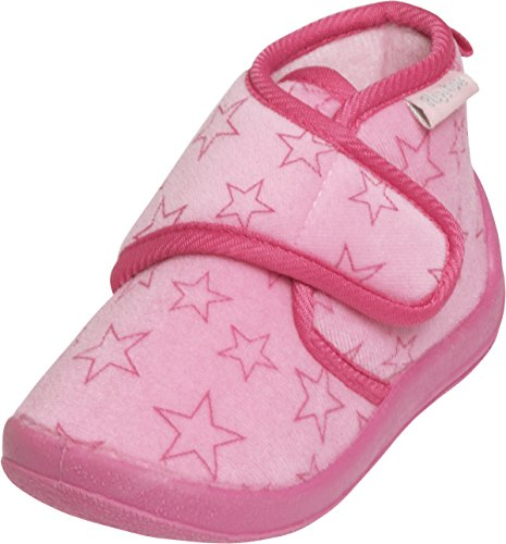 Playshoes Hausschuh Pastell, Chaussons mixte enfant Rose - Pink (rosa 14)
