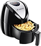 Aobosi Digital Air Fryer Multi-functional Low Fat Air fryer 7 Built-in Smart Menus for Quick Start, 2.6L Healthy Hot Airfryer for Home and Kitchen, Free Recipe Book