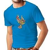 lepni.me N4299 Männer T-Shirt Alle Nationen der Welt für den Frieden (Small Blau Mehrfarben)