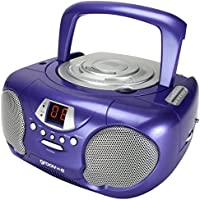 Groov-e Boombox Portable CD Player with Radio & Headphone Jack - Purple