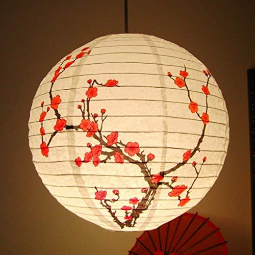 Zonster Articoli da Regalo 35 Centimetri Plum Blossom Rotonda Lanterna di Carta dello Schermo di Lampada di Stile Cinese Oriental Light Restaurant Festa di Nozze per La Casa