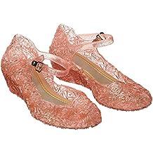 Katara - Zapatos para disfraz de princesa color Rosa, EU . 29 (tamaño del fabricante 31)