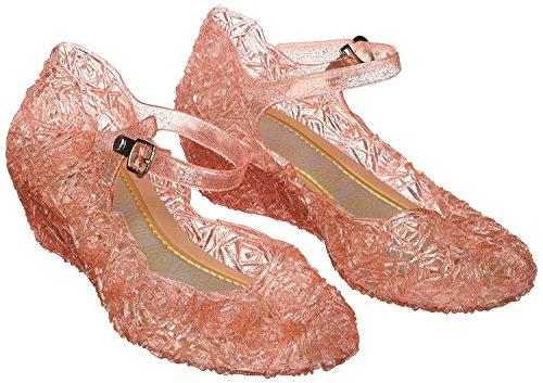 Katara - Frozen Eiskönigin Prinzessin Elsa, Cinderella Schuhe für Kinder-Kostüme und Prinzessinenkleid, Gr. 28, Rosa (Rosa Mädchen Kleid Schuhe)
