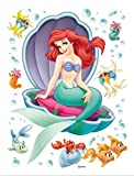 1art1 59333 Walt Disney - Arielle, Die Kleine Meerjungfrau Wand-Tattoo Aufkleber Poster-Sticker 85 x 65 cm