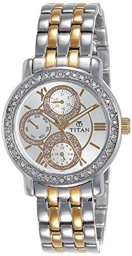 Titan Purple Analog Silver Dial Women's Watch - NE9743BM01J