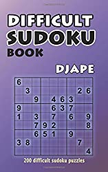 Difficult Sudoku Book: 200 Difficult Sudoku Puzzles: Volume 1 by Djape (2015-05-28)