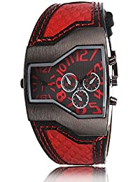 iSweven isweven Spring summer 2016 collection dual time zone quartz watch Analogue Red Unisex Wrist Watch W1011ee