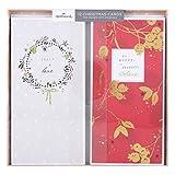 Hallmark Weihnachtskarten-Set Merry & Jolly, englischer Text, 3Designs, 12Karten Peace and Love