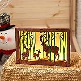 LED Light TAOtTAO Holz Bilderrahmen 3D Led Tisch Nachtlicht Dekoration Lampe An/Aus-Schalter (B)