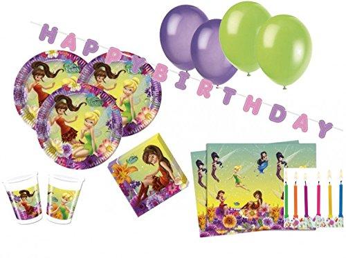 XXL 67 Teile Tinkerbell Party Deko Set für 10 Kinder