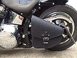 Odin Black Satteltasche für Harley Davidson schwarz Black von ORLETANOS Leder Schwingentasche Seitentasche Tasche HD Chopper Fatboy Wildstar Dragstar Bikertasche