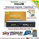 Decoder combo doppio tuner Satellitare HD e Digitale Terrestre HD compatibile con tessera Tivusat è con tessere Viaccess con Tessera Mediaset Premium e tessera Sky Digitale Terrestre Bware