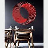 Adesivo da parete in vinile Illusioni ottiche Modello Geometria astratta Adesivo Salone Soggiorno Camera da letto Decorazioni da parete C 57 * 57 cm