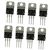 MagiDeal 8 Pezzi Kit Assortimento Transistore Serie Componenti Elettronici L7805 - L7824 Nero
