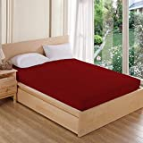 "AVI Waterproof Dustproof Terry Cotton Mattress Protector Queen Size(60""x75"")- Maroon"
