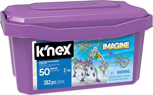 K'NEX Imagine Imagination Makers 50 Model Building Set for Ages 5 and Up, Construction Educational Toy, 382 Pieces