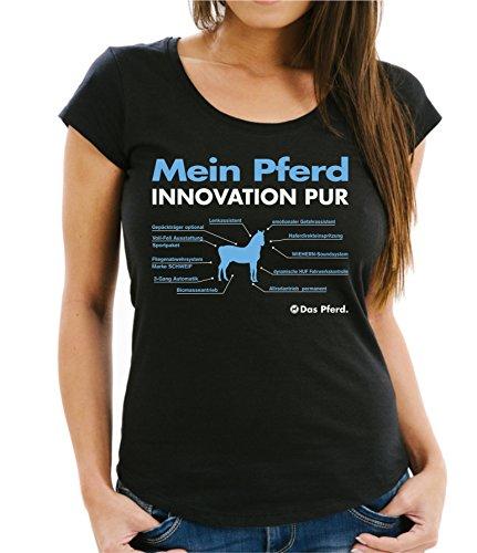 Siviwonder WOMEN T-Shirt INNOVATION - MEIN PFERD allgemein - Pferde Fun reiten Schwarz