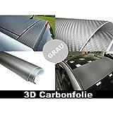 Airbrush-City 3D Carbon Folie GRAU 152cm flexibel selbstklebend Carbonfolie