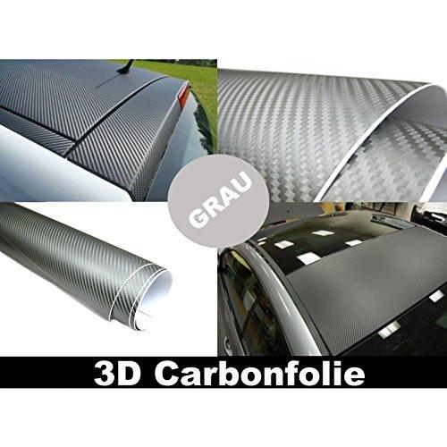 3D Carbon Folie GRAU 152cm flexibel selbstklebend Carbonfolie
