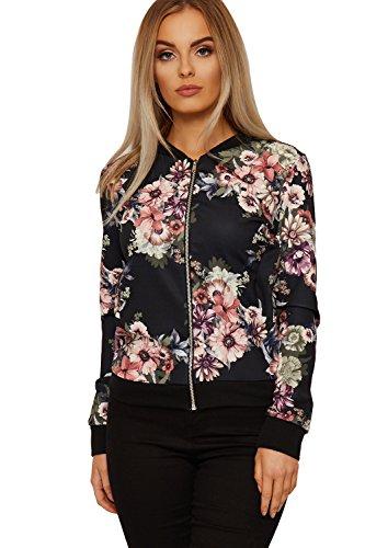 wearall-femmes-floral-imprimer-bombardier-veste-dames-longue-manche-rose-fermeture-eclair-equipage-c