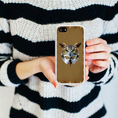 Apple iPhone 5c Housse Outdoor Étui militaire Coque Hibou Hibou Uhu Housse en silicone blanc