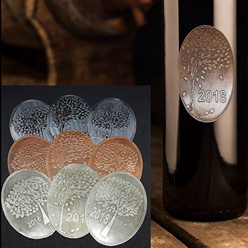 Selbstklebende Schilder Flaschenetikett Weinetikett Liköretikett- echtes Kupfer - Zinn - Aluminium Schilder Etikett Label auf Metall, selbstklebende etiketten für Glas Beton Papier Marmelade Bier Wein