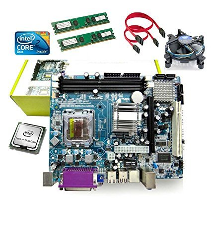 KharidiyeBasic Zebronics Motherboard Kit with 2.4Ghz Intel Core2 Duo CPU, 2GB DDR2 RAM and Intel CPU Fan